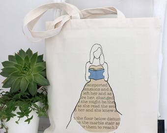 Book Lover | Book Bag | Literature | Literary Gifts | Book Dress | Book Tote | Reading Gift | Book Gift | Tote Bag | Reading