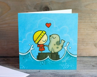 The Little Selkie - greeting card