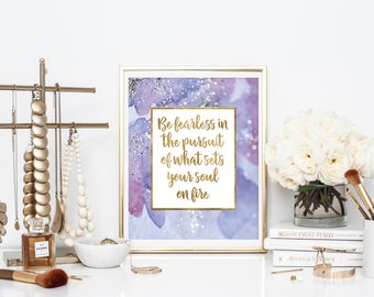 Dorm Room Decor - Girl Office Decor - Home Office Decor - Girl Power Print - Digital Download - Inspirational Quote Printable - Quote Print