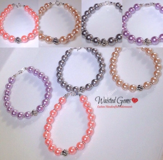Czech Glass Pearl Beads 10mm Chose of Beaded Bracelet, Pearl Bracelet,Bridal Jewelry, Women Bracelet, zmw1942