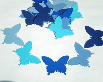 25 Butterfly die cuts / Mix of Blue shades/  scrapbook embellishments