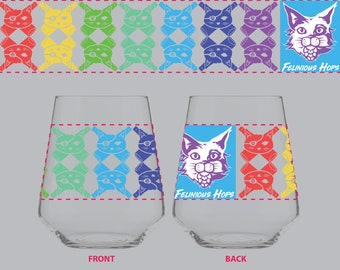 Cat Rogers Full Color Wrap Stemless Rastal - PreOrder