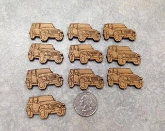 Jeep Wrangler Wood Cuts