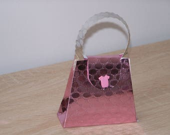 Box dragees handbag or backpack crocodile skin effect