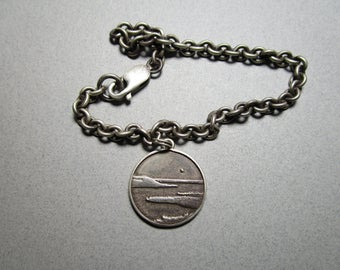 Sterling Silver Bracelet / Lake Pepin on the Mississippi Bracelet / Choice of Lobster or Toggle Clasp / Price is for One Bracelet