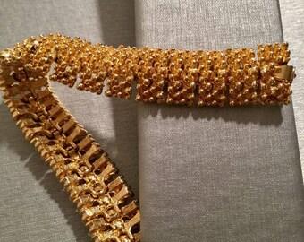 Sarah Coventry Gold Tone Bracelet