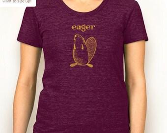 Eager Beaver junior/women's t-shirt
