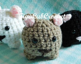 Crochet Mini Grizzly Black Bear Wild Zoo Animal Cute Amigurumi Plush Made To Order