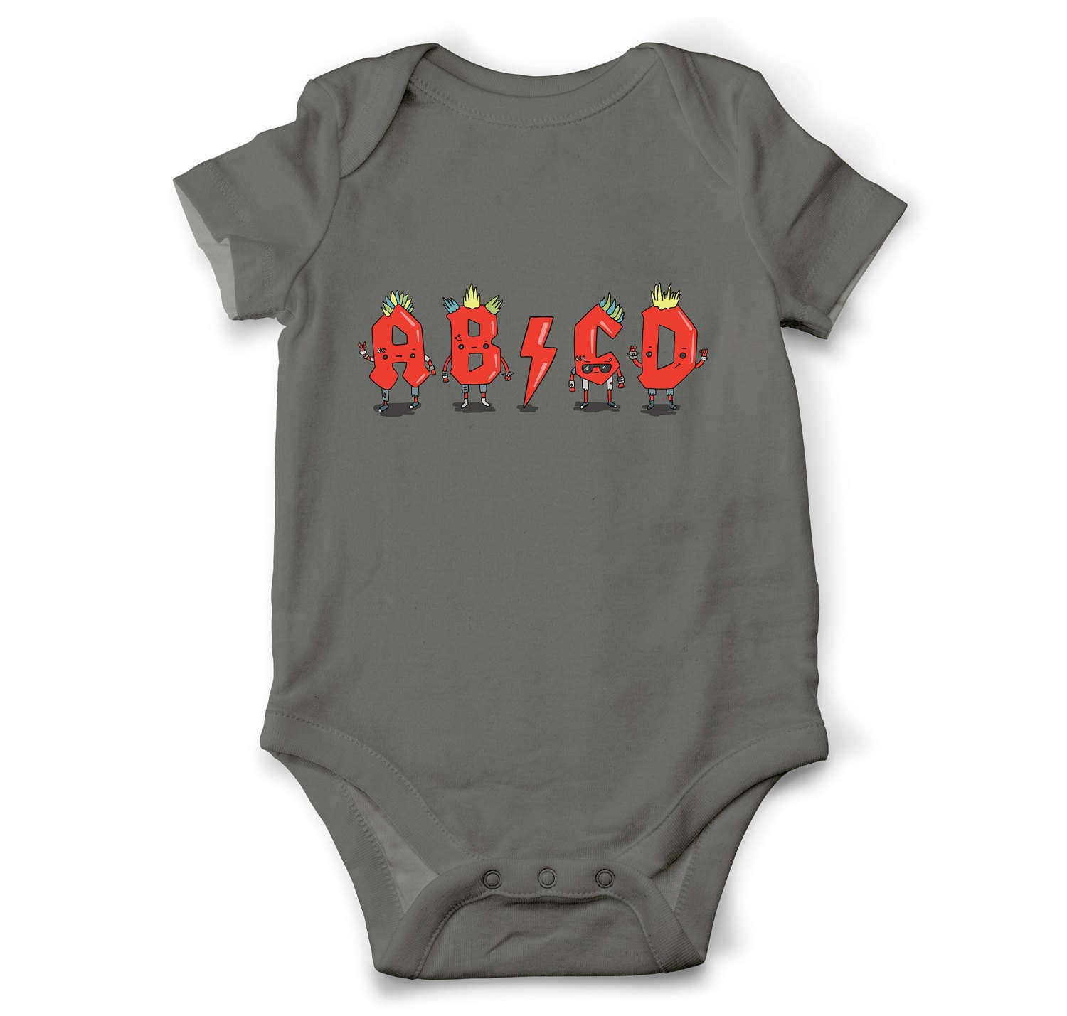 Funny baby bodysuit ABCD Musical baby clothes Unique baby