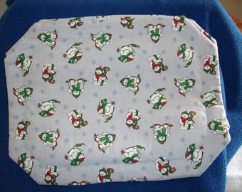 Set of 4 Skiing Snowman Placemats