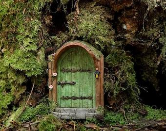 Miniature Fairy Garden Mystical Fairy Door Green Fairy Home Door