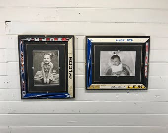 """Hockey stick picture frame holds 5""""x7"""""""