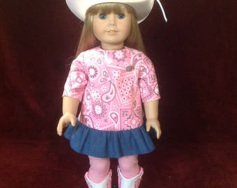 Cowgirl Outfit - 18 Inch Dolls
