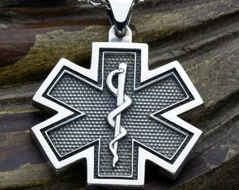 Large Firefighter Maltese Cross Fire Department With Crossed
