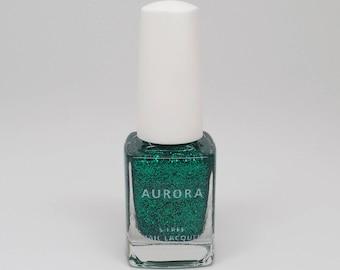 Emerald | Holiday 2017 Gemstones Collection | AURORA 5-Free Nail Lacquer | Handmade Nail Polish