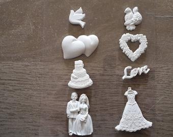 Plaster figurine wedding