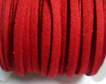 95 cm red 3mm suede cord