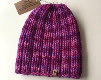Mega Rib Instant PDF DOWNLOAD Knitting Pattern Super Bulky Beanie Pattern Chunky Knit Hat Pattern Unisex Adult Hat Pattern