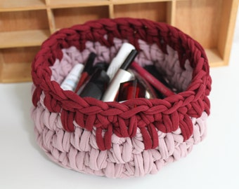 (Cotton) braided cord storage basket
