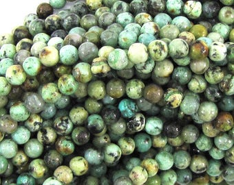 """4mm african turquoise round beads 15.5"""" strand 30017"""