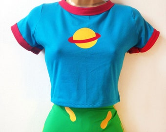 Chuckie Finster Rugrats Crop Top // Top Only Chuckie Finster Costume Shirt