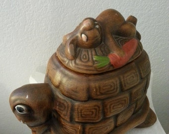 Prices are Negotiable - Tortoise and Hare Cookie Jar