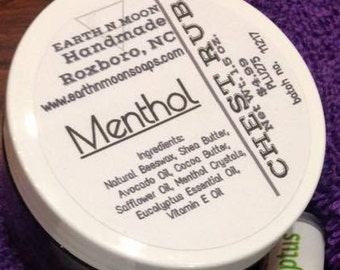 Menthol Chest Rub-Natural-No Preservatives-Sinus Relief-Congestion-Cold-Cough-Handmade