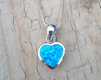 Heart Shaped Opal Pendant