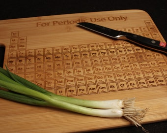 Periodic Table Cutting Board 9x13 Chemistry Science Gift for Student Teacher Graduation Kitchen Art Chemist College University Geekery
