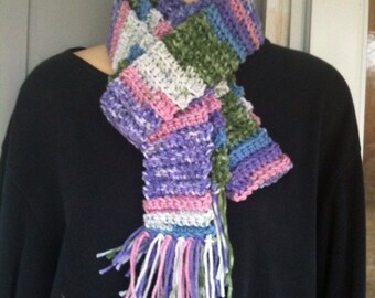 Scarf, scarves, crochet scarves, crochet, pastel colors, accessories, women, girls, clothing