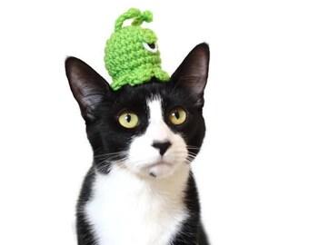 Cat Hat - Green Alien Hat - Small Dog Hat