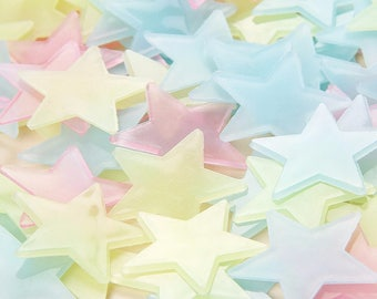 Starry Nights - 100 Glow in the dark wall stickers for kids