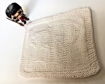 PDF Pattern - Harry Potter: HP Logo Dishcloth/Washcloth