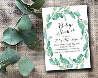 Bridal or Shower Baby Shower Rustic Burlap Floral Wedding Bridal Shower Rehearsal Reception Party Invitations Cards Birthday Printable