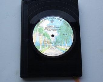"Vinyl Record Bound Notebook - Gordon Lightfoot ""Endless Wire"""