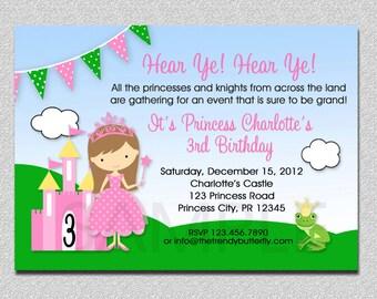 Princess Birthday Invitation Princess Birthday Party Invitation Printable