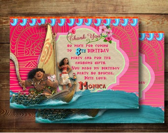 MOANA Thank you cards Digital Download