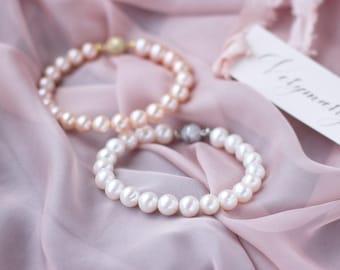 Wedding jewelry | pearl bracelet | wedding bracelet | freshwater pearl bracelet | bridal complete | wedding accessories FREE SHIPPING