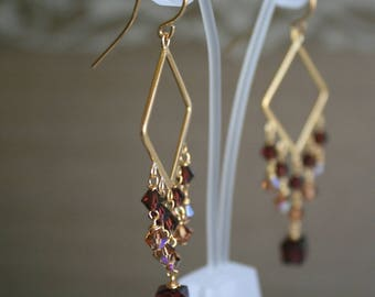 Ethnic dangling chandelier earrings