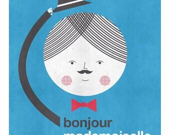 Bonjour mademoiselle print