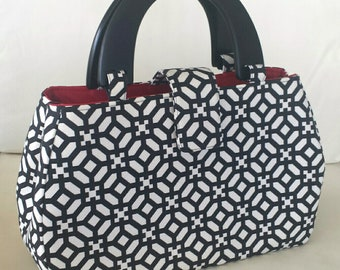 The Lucy Handbag - Black and White