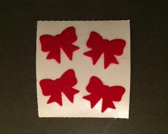 Sandylion vintage rare fuzzy bow stickers