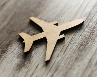 Aircraft Unfinished wood  ,wooden airplane tags,Wood laser cut gift tags. mini sizes