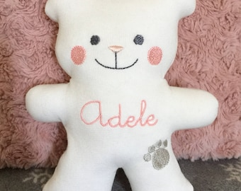 Baby bear with embroidered name-Teddy bear