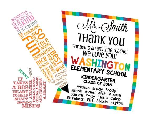 Teacher appreciation note word art digital image diy like this item thecheapjerseys Images