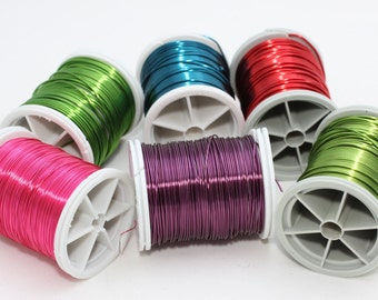 12 gauge anodized aluminum wire beading wire 39 feet 12 gauge bead pick your color green pink purple red blue 28 gauge 03 mm 155 feet 48 meters craft wire jewelry wire artisan wire wrap wrri greentooth Images