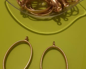 OPEN OVAL BEZEL gold x 2 pcs