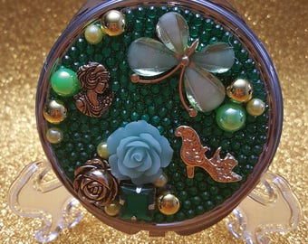 I love green Compact Purse Mirror
