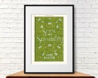 Sense and Sensibility by Jane Austen. Book Cover Art Print