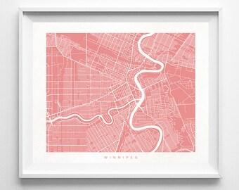 Winnipeg Map, Canada Print, Winnipeg Poster, Canada Art, Office Decor, Nursery Posters, Artwork Sale, Valentines Day Decor, Valentines Day